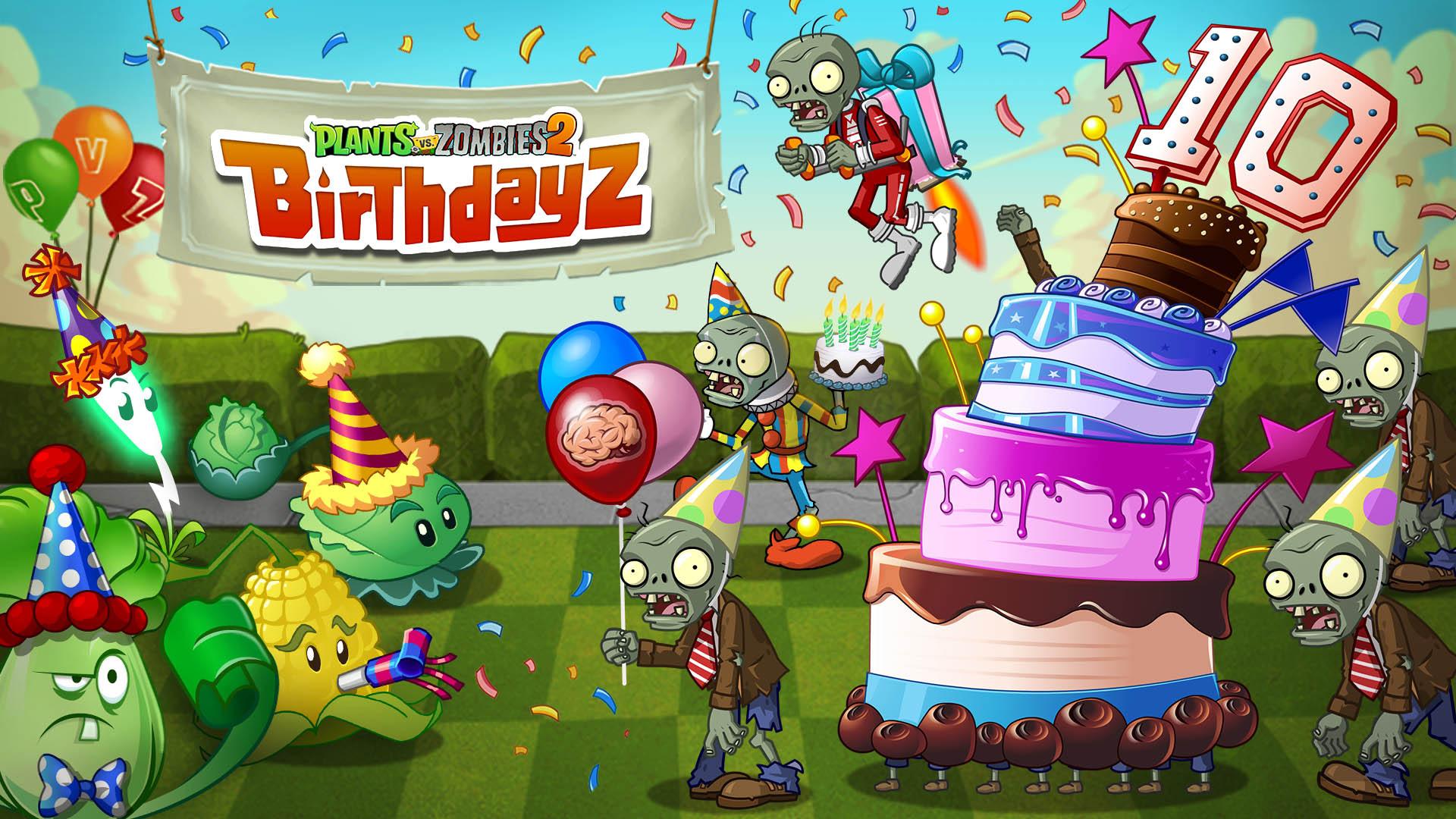 Happy 10th Anniversary Plants vs  Zombies