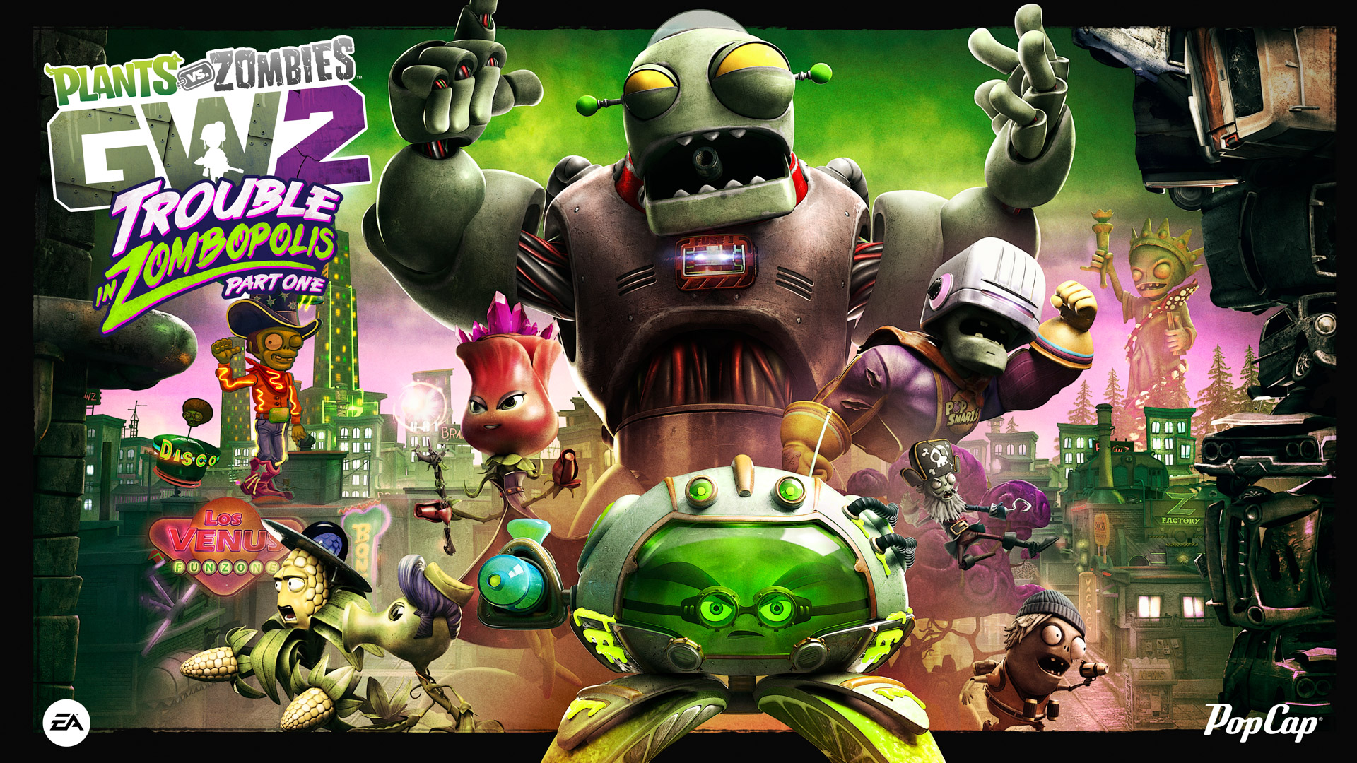 Trouble in zombopolis part one content update features Plants vs zombies garden warfare 2 event calendar